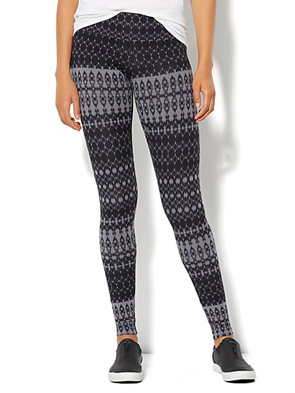 Love, NY&C Collection - Ikat Print Yoga Legging - New York & Company