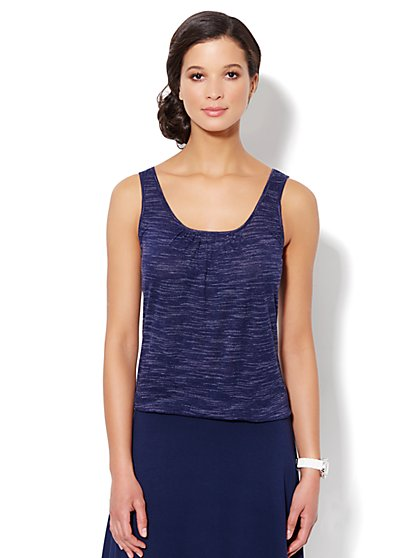 Love, NY&C Collection - Jaspé Tank - Grand Sapphire