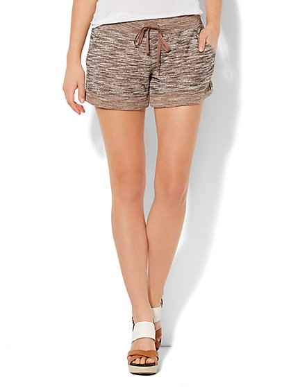 Love, NY&C Collection - Knit Drawstring Short  - New York & Company