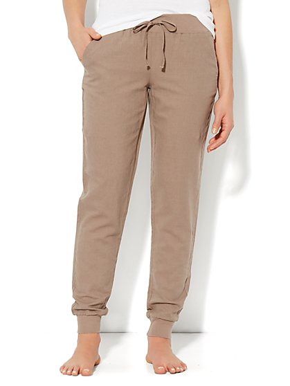 Love, NY&C Collection - Linen Banded-Hem Pant - New York & Company