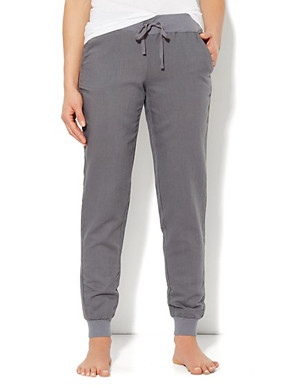 Love, NY&C Collection - Linen Banded-Hem Pant