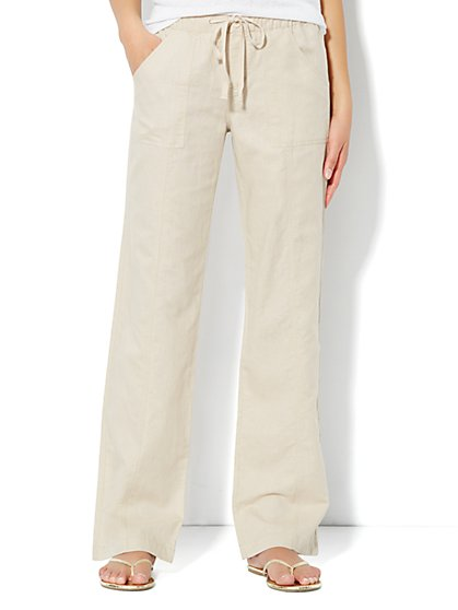 Love, NY&C Collection - Linen Straight-Leg Pant - Average