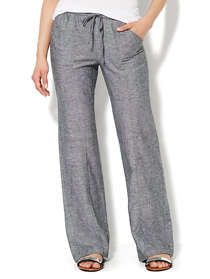 Love, NY&C Collection - Linen Straight-Leg Pant - Tall - New York & Company
