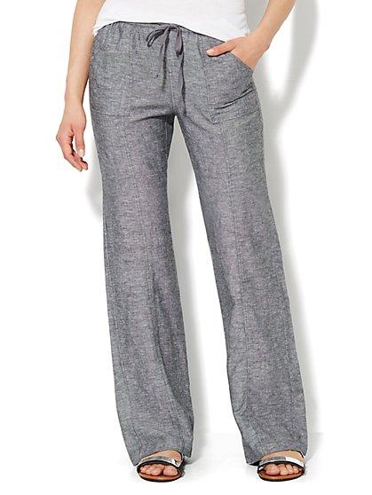 Love, NY&C Collection - Linen Straight-Leg Pant - Tall - New York & Company