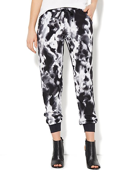 Love, NY&C Collection - Lounge Pant - Slim Leg - Tie-Dye   - New York & Company