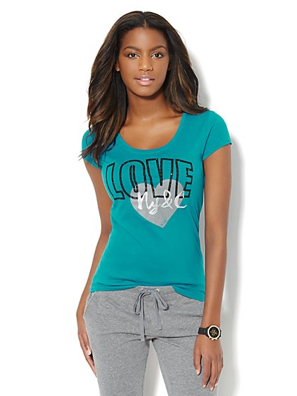 Love, NY&C Collection - Love Heart Logo Tee  - New York & Company