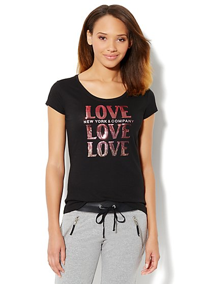 Love, NY&C Collection - Love Logo Tee  - New York & Company