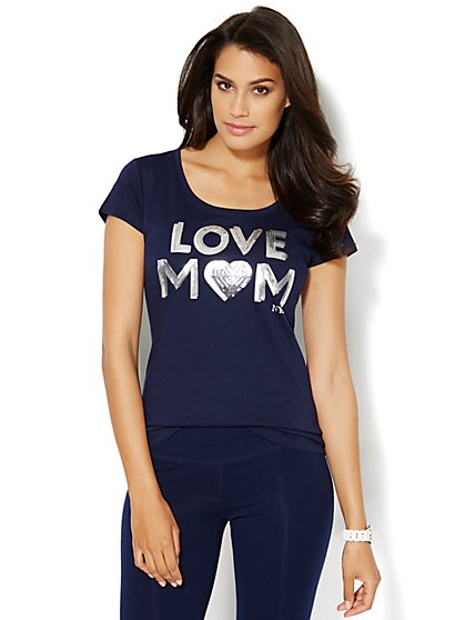 Love, NY&C Collection - Love Mom Logo Tee  - New York & Company