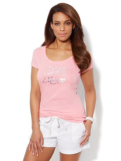 Love, NY&C Collection – Love Mom Logo Tee