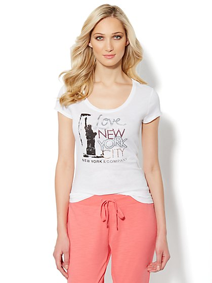 Love, NY&C Collection – Love New York City Logo Tee