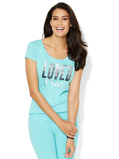 Love, NY&C Collection - Loved Logo Tee  - New York & Company