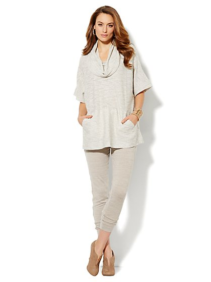Love, NY&C Collection - Lurex Cowl Neck Poncho Top - New York & Company
