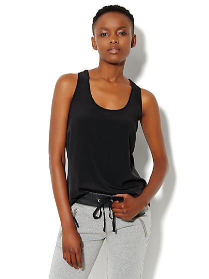 Love, NY&C Collection - Mix-Knit Tank Top - New York & Company