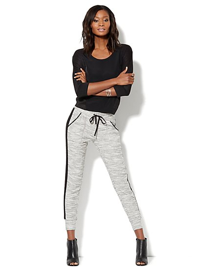 Love, NY&C Collection - Mixed-Fabric Hi-Lo Top - New York & Company