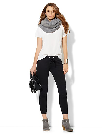 Love, NY&C Collection - Moto Sweatpant - New York & Company
