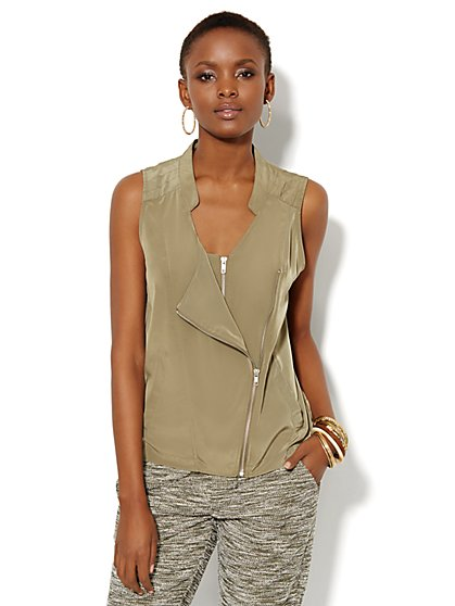 Love, NY&C Collection - Moto Vest  - New York & Company