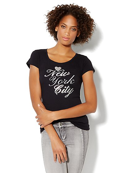 Love, NY&C Collection - New York City Glitter Tee Shirt