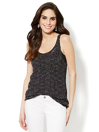 Love, NY&C Collection - Open-Knit Tank Sweater  - New York & Company