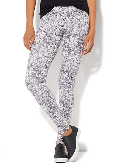 Love, NY&C Collection - Paint-Splatter Yoga Legging - New York & Company
