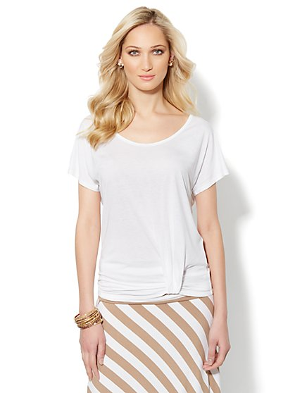 Love, NY&C Collection - Pleated-Hem Tee