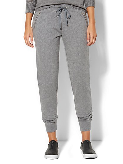 Love, NY&C Collection -  Quilted Jogger Sweatpant - New York & Company
