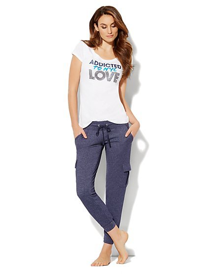 Love, NY&C Collection - Sequin Logo Tee Shirt - New York & Company