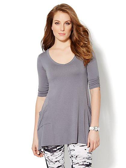 Love, NY&C Collection - Sharkbite Tunic Top  - New York & Company