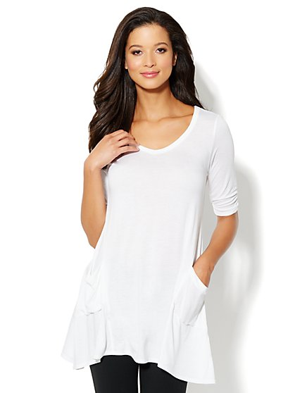 Love, NY&C Collection - Sharkbite Tunic - New York & Company
