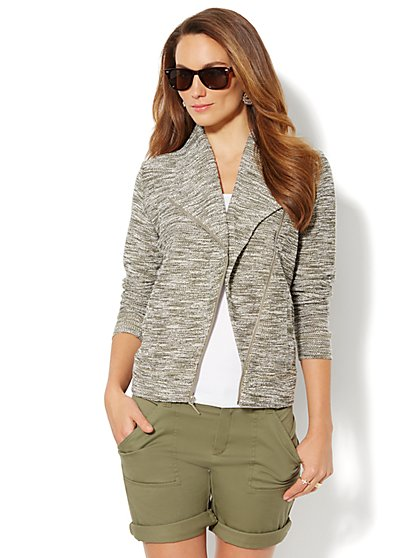 Love, NY&C Collection - Shawl-Collar Moto Jacket  - New York & Company