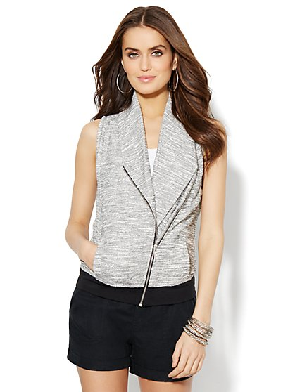 Love, NY&C Collection - Shawl-Collar Moto Vest  - New York & Company