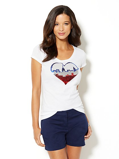 Love, NY&C Collection - Skyline Logo Tee