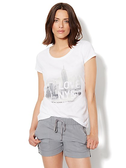 Love, NY&C Collection - Skyline Tee - New York & Company