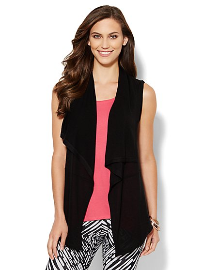 Love, NY&C Collection - Sleeveless Open-Front Cardigan - New York & Company