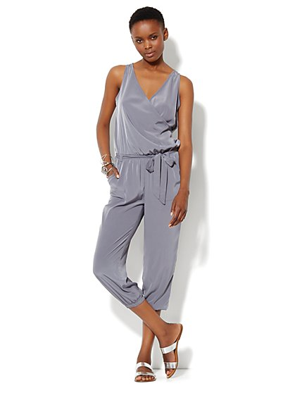 Love, NY&C Collection - Sleeveless Silky Jumpsuit