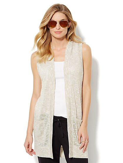 Love, NY&C Collection - Sleeveless Sparkle Duster  - New York & Company
