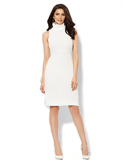 Love, NY&C Collection - Sleeveless Turtleneck Sweater Dress  - New York & Company