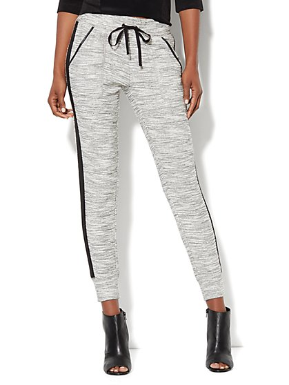 Love, NY&C Collection - Slim Leg Sweatpant - Marled - New York & Company