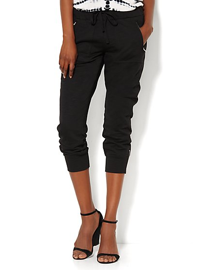 Love, NY&C Collection - Slim Slouch Crop - Lounge Pant - New York & Company