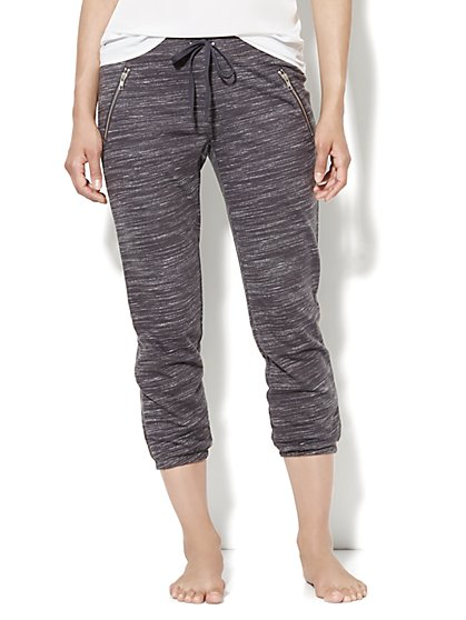 Love, NY&C Collection - Slim Slouch Crop Pant - Almost Black
