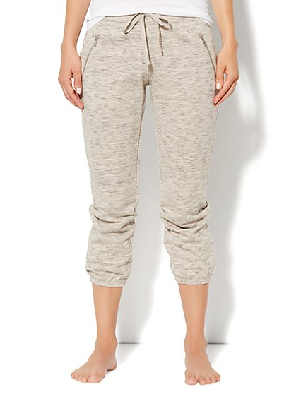 Love, NY&C Collection - Slim Slouch Crop Pant - Jaspe
