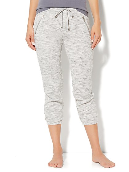 Love, NY&C Collection - Slim Slouch Crop Pant - Jaspe - New York & Company