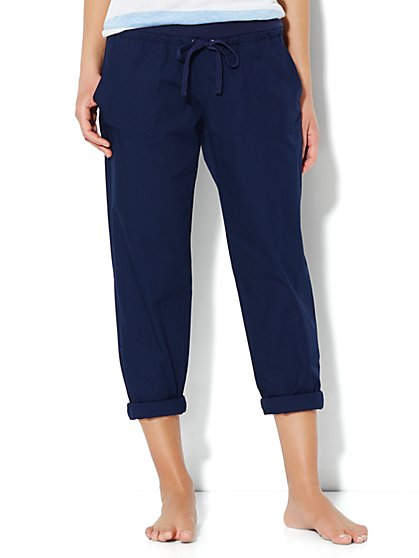 Love, NY&C Collection - Slim Slouch Crop Pant