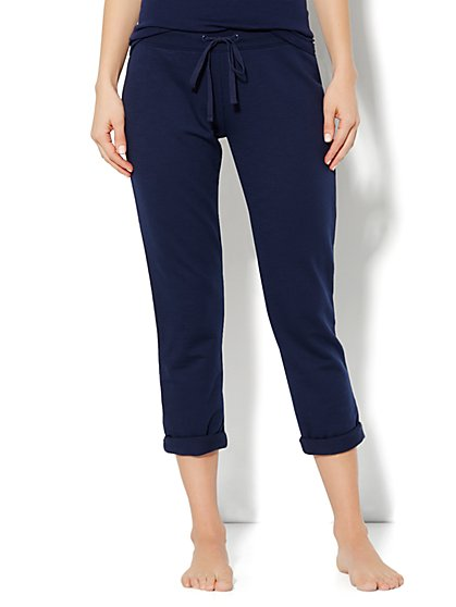 Love, NY&C Collection - Slim Slouch Roll-Cuff Crop Pant