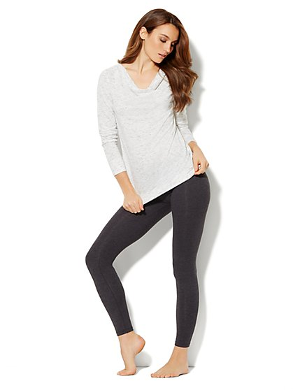 Love, NY&C Collection - Space-Dyed Draped-Neck Pullover - New York & Company