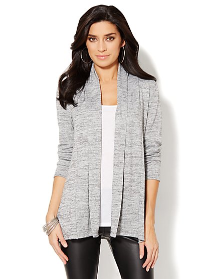 Love, NY&C Collection - Space-Dyed Flyaway Cardigan  - New York & Company