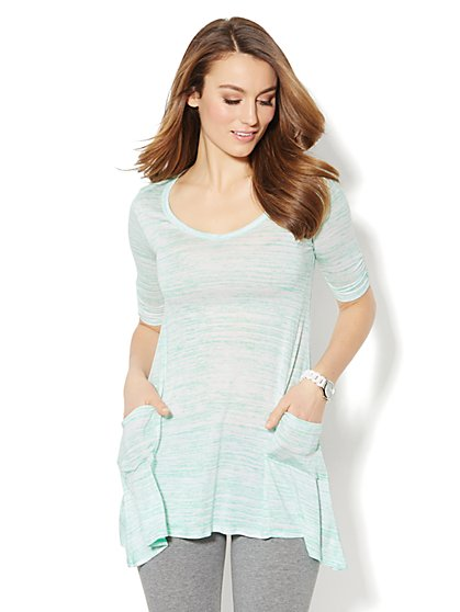 Love, NY&C Collection - Space-Dyed Sharkbite Tunic - New York & Company