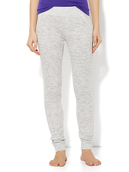 Love, NY&C Collection - Space-Dyed Sweatpant - Heather Grey