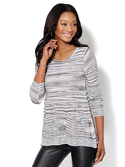 Love, NY&C Collection - Space-Dyed Tunic Sweater  - New York & Company