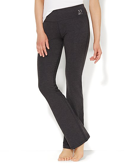 Love, NY&C Collection - Sparkling Bootcut Yoga Pant - Heather Grey - New York & Company