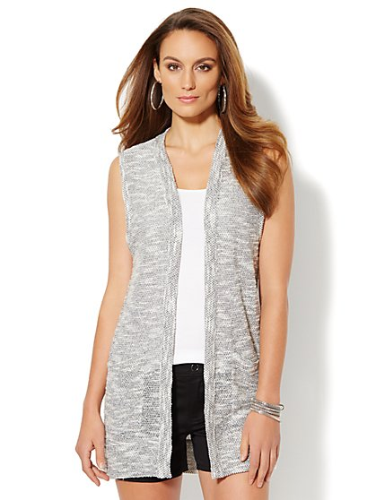 Love, NY&C Collection - Sparkling Sleeveless Duster  - New York & Company
